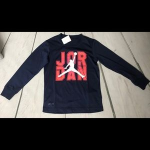Boys NWT'S Jordan shirt size 6